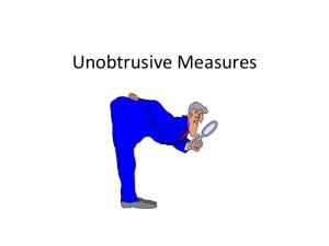 unobtrusive meaning