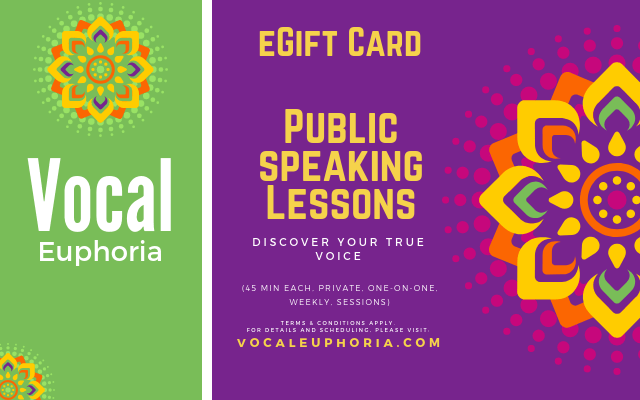 Public Speaking Lessons eGift Card