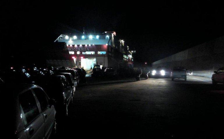 Imbarco Tirrenia notte