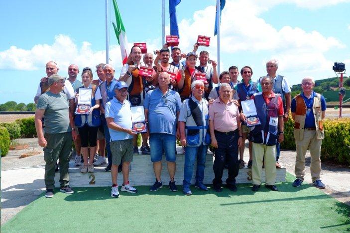 Il podio del Campionato Italiano a squadre Elica