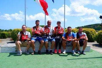 La squadra del TAV Castanea che ha vinto lo Scudetto