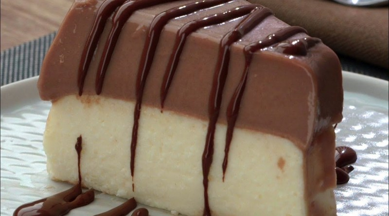 receita de pudim de coco com chocolate