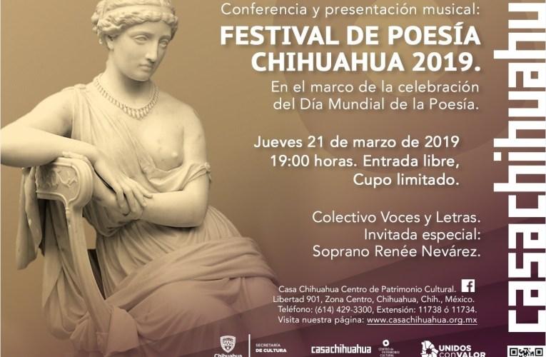 Llega el Festival de Poesía a Casa Chihuahua