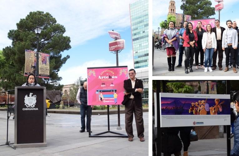 """Gobierno Municipal invita a la exhibición """"Artebús Parabuses de Autor"""" en el Centro Histórico"""