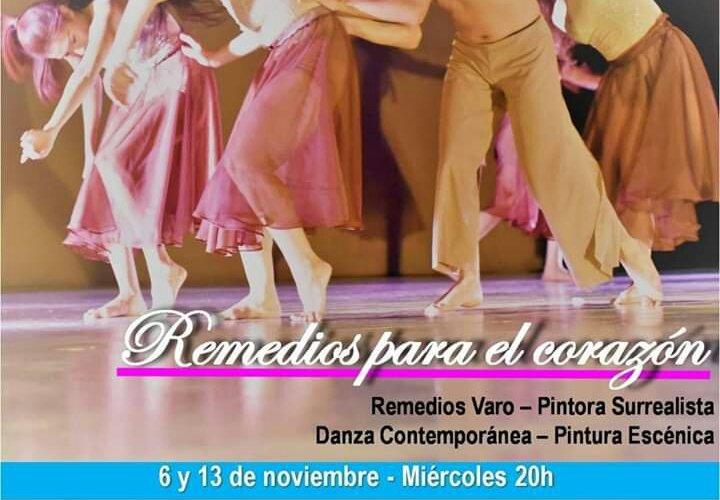 Remedios para el corazón, Teatro Bárabaro, 6 y 13 de noviembre