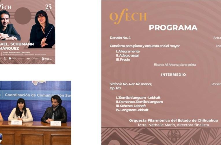 Invitan al último concierto de audición para dirección de la Ofech, con la participación de la tercera finalista Nathalie Marin