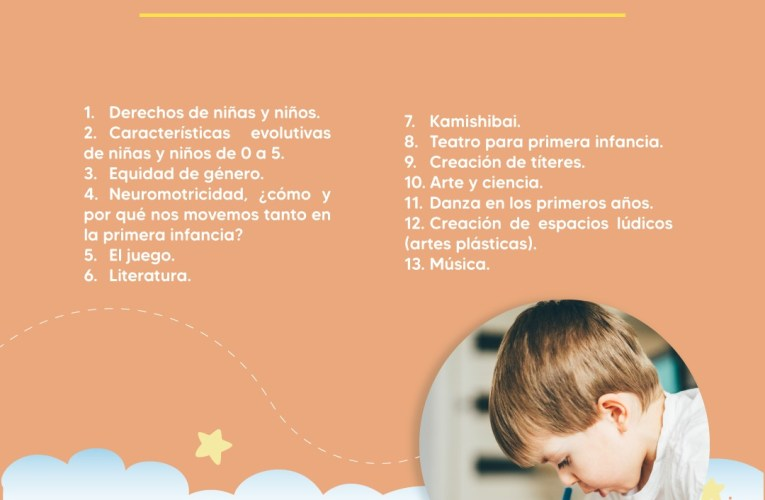 """Abren convocatoria para el curso virtual """"Arte en la primera infancia"""""""