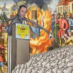demagogia politica caricatura