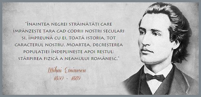 Eminescu citat despre starpirea neamului romanesc