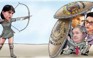 lupta institutionala politica caricatura