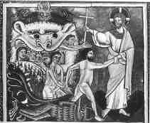 Iisus salvand sufletele celor din iad
