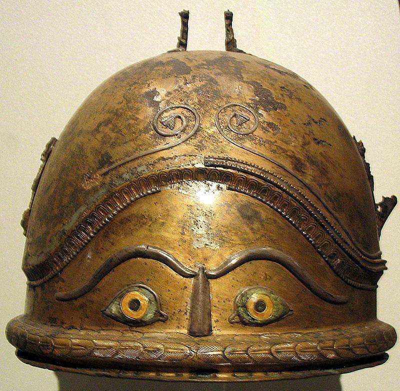 Coiful Etrusc Negau cu ochi si sprancene secolul 6 iH