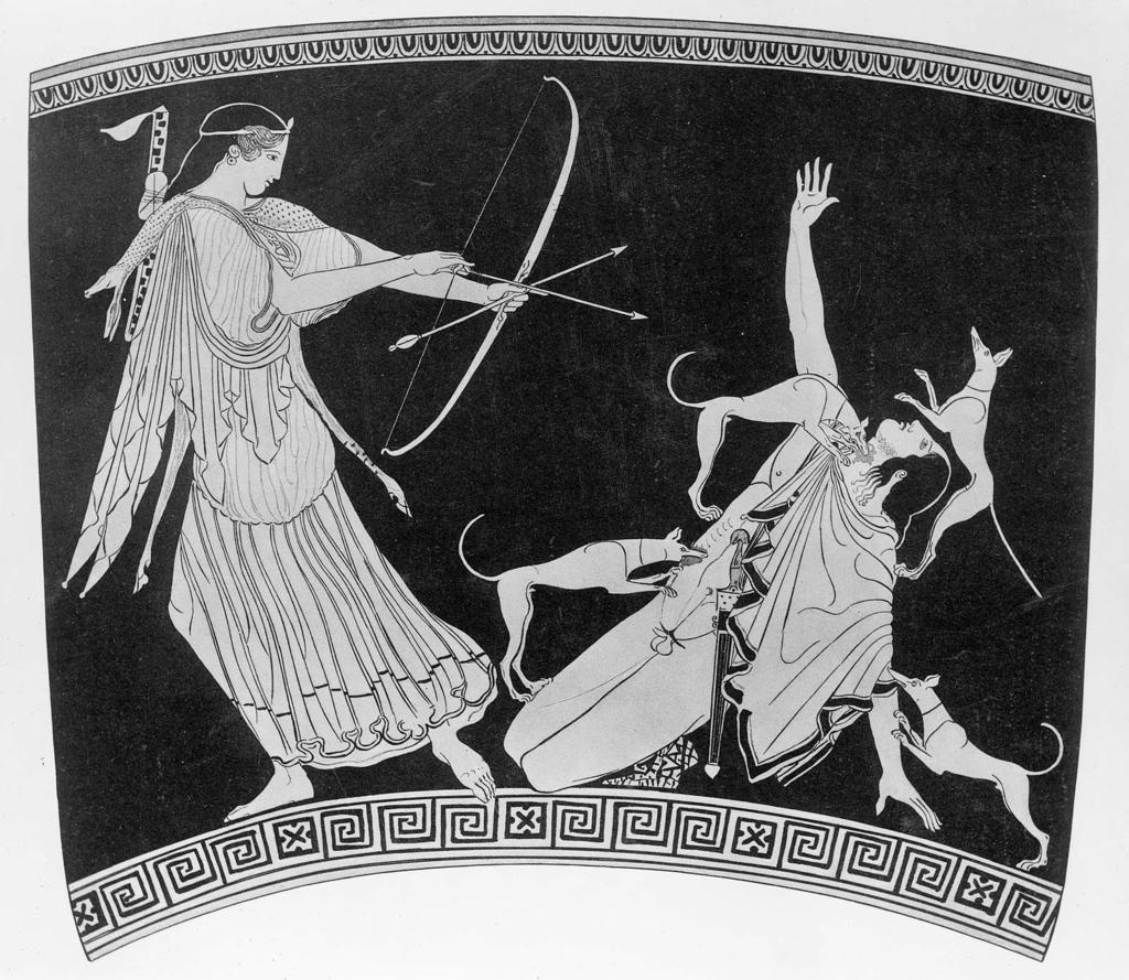 Acteon ucis de Artemis
