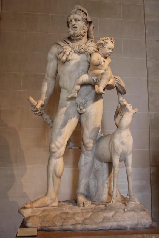 Statue Hercules Telephus si caprioara