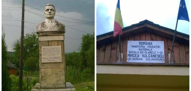 Barsana statuia si scoala Mircea Vulcanescu