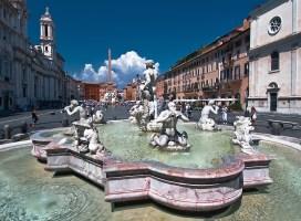 Trg Navona u Rimu - Fontana del Moro (foto: vpzone)