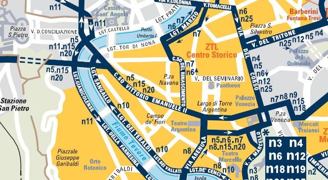Mapa noćnih linija
