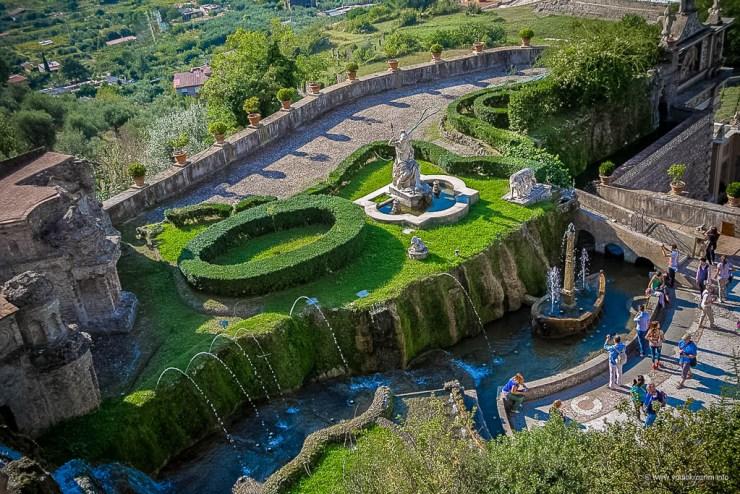 Vila d'Este u Tivoliju, vrt 100 fontana