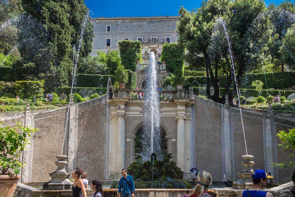 Vila d'Este u Tivoliju - Fontana zmajeva