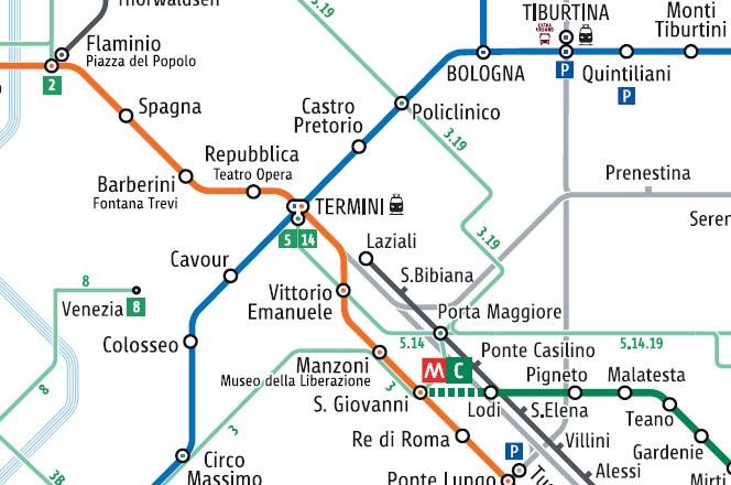 Mapa voznih i metro linija
