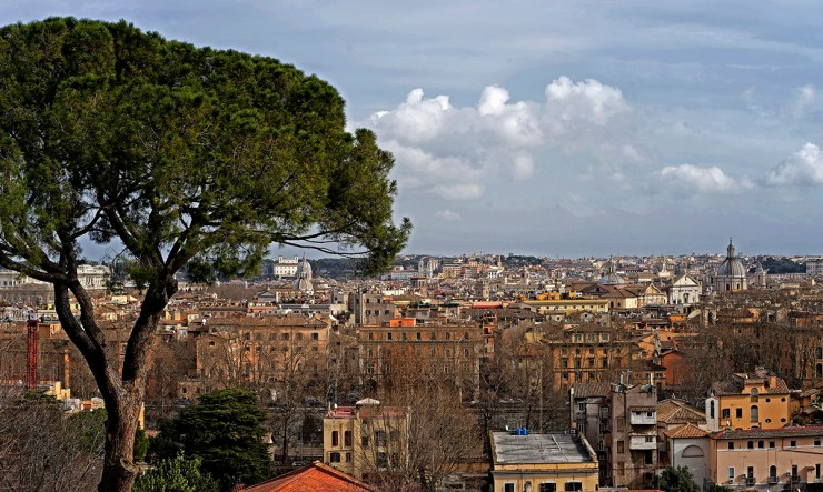 Vidikovac Janikul - pogled na Rim (foto: Mikael Korhonen/Flickr)