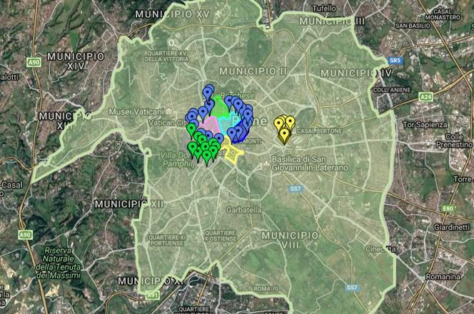 Mapa zona zatvorenih za automobilski zaobraćaj