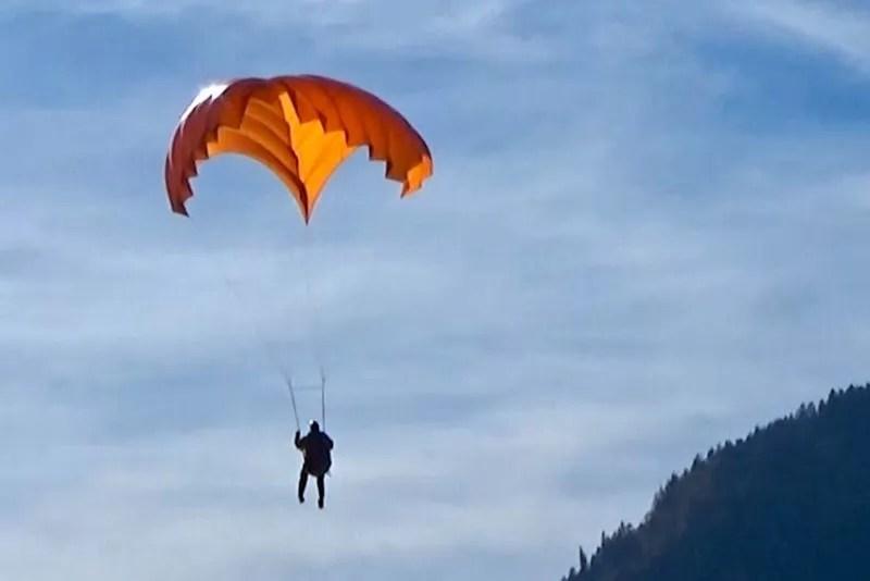 Para-quedas reserva para parapente modelo dirigível