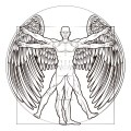 homem com asas parecido com da vinci