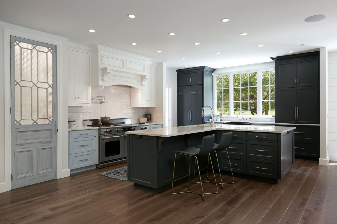 Transitional Kitchen, Living and Dining Interior Design ...