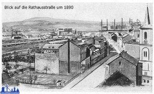Die heutige Rathausstraße 1890.