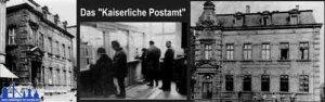 """Das """"Kaiserliche Postamt in der Poststraße"""" um 1908"""