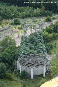Der Bischhofkühler vom Dach des Gasometers - auch er ist inzwischen abgetragen. (Foto: Hell)