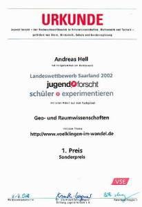 1. Preis + Sonderpreis für Völklingen im Wandel