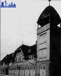 Das Feuerwehrgebäude um 1907.