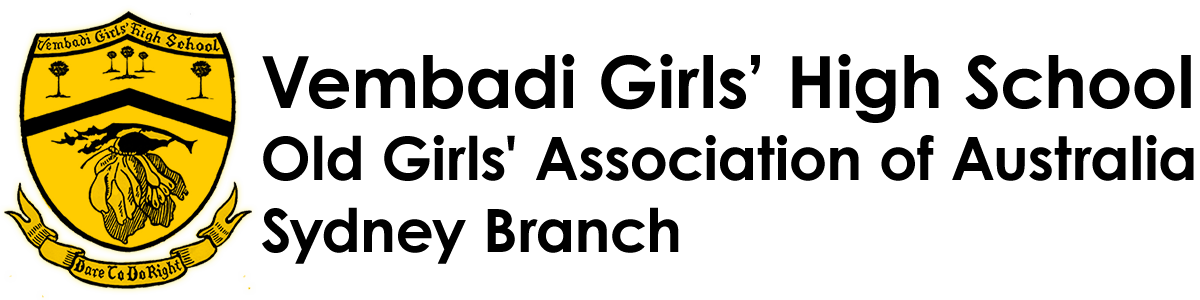Vembadi Girls' High School, Old Girls' Association of Australia, Sydney Branch
