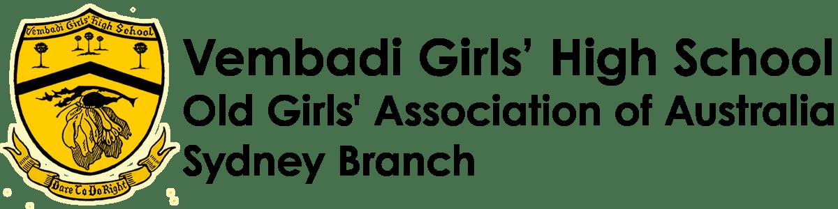 Vembadi Girls' High School, Old Girls' Association of Australia, Sydney Branch