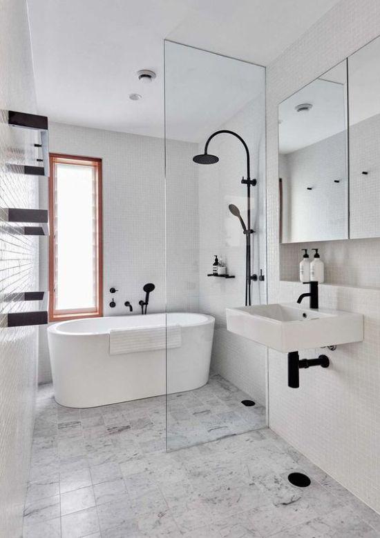 Un esempio di bagno minimal