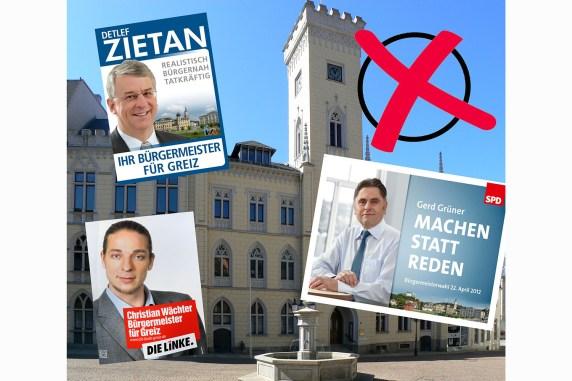 Bürgermeisterwahl 2012 in Greiz