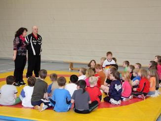 Schulmeisterschaft im Ringen in der Grundschule Lessing
