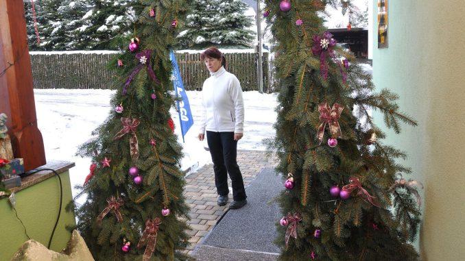 """Weihnachtsdekoration bei """"draussen-leben"""" in Greiz-Thalbach"""