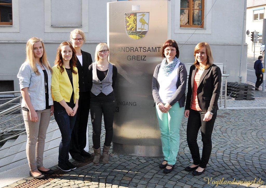 Neue Auszubildende im Greizer Landratsamt