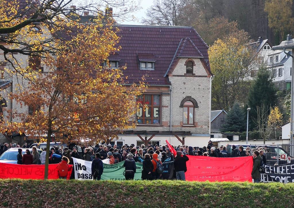 Demo unter dem Motto  Pogrome verhindern, bevor sie entstehen»