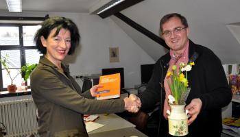 Münsteraner Bibliothekar besucht Greizer Bibliothek