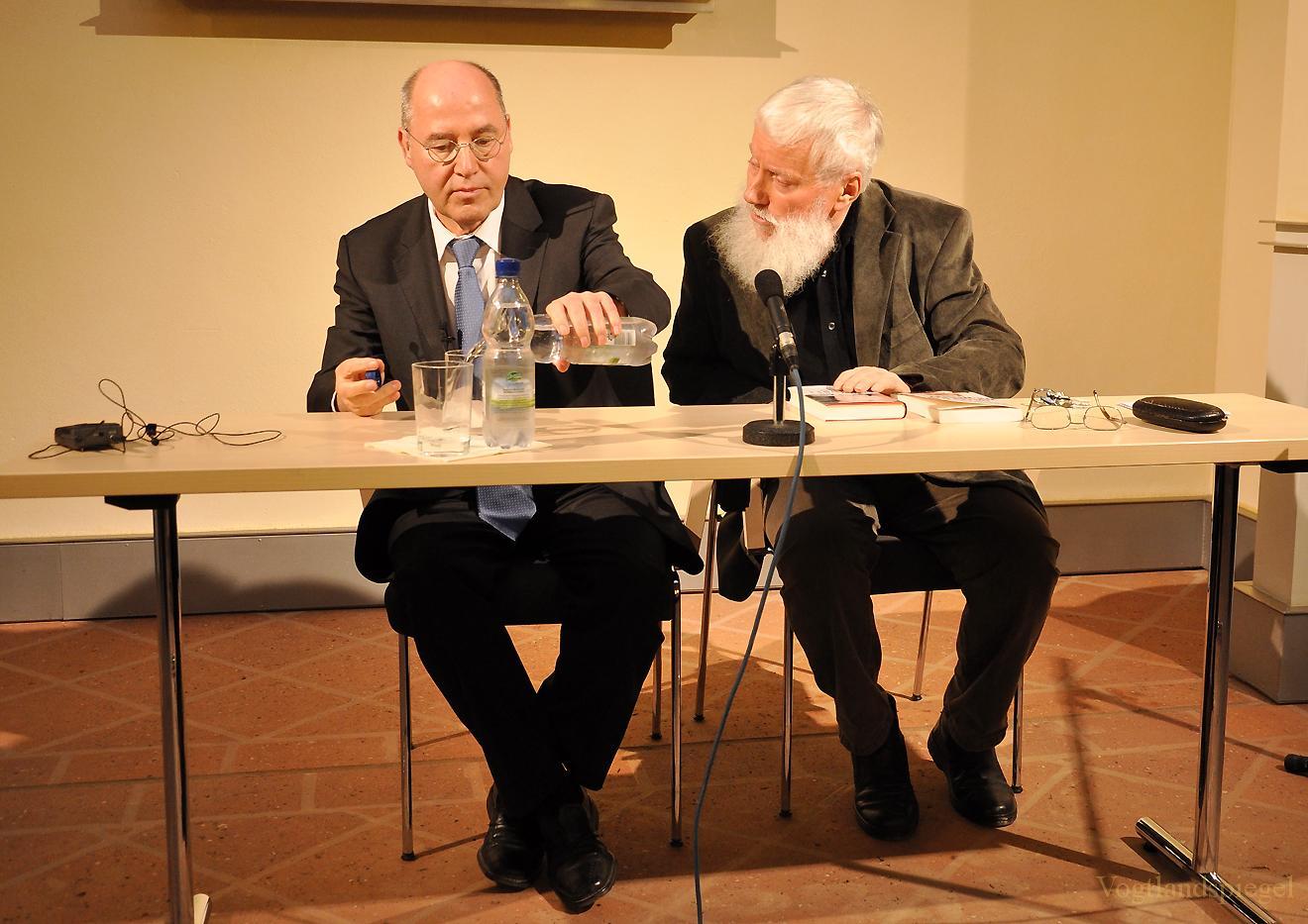 Gregor Gysi bei »Prominente im Gespräch« auf dem Oberen Schloss Greiz