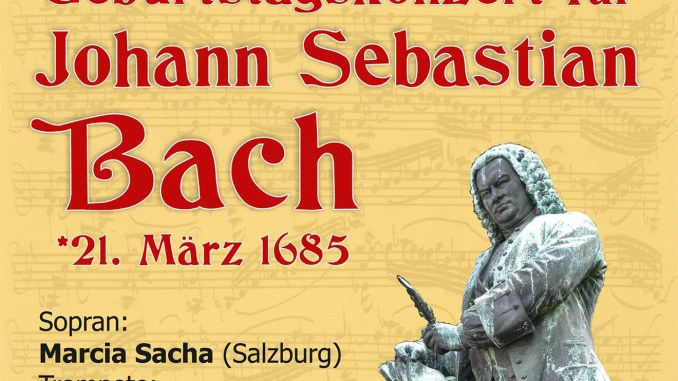 Geburtstagskonzertes für Johann Sebastian Bach
