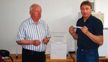 KSB-Vorsitzender Uwe Jahn (r.) und Dieter Köbke