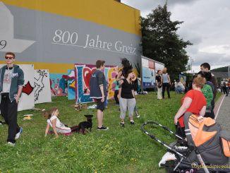 Graffiti-Contest an Greizer Schlossbrücke