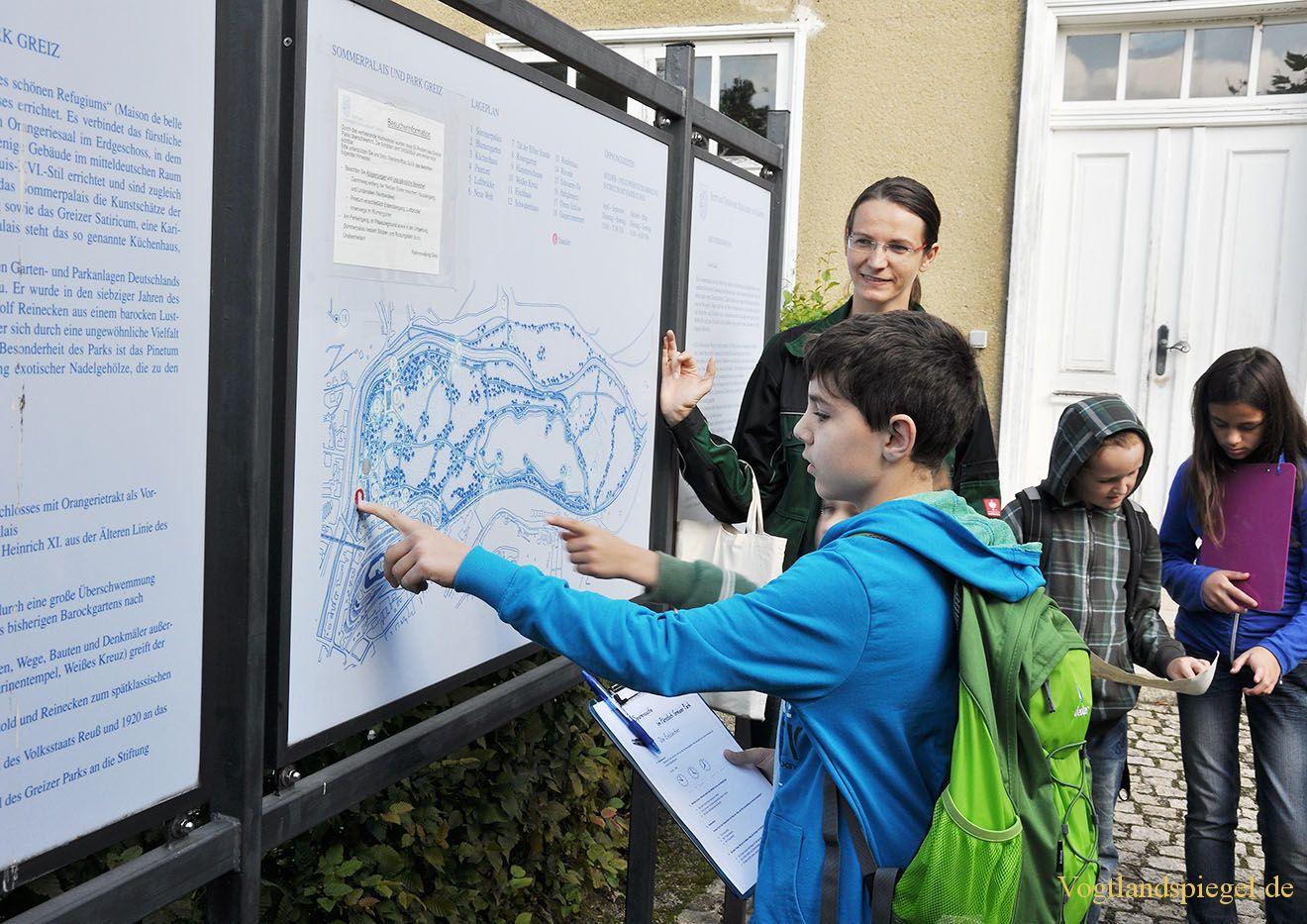 Parkverwaltung organisiert Schatzsuche im Fürstlich Greizer Park
