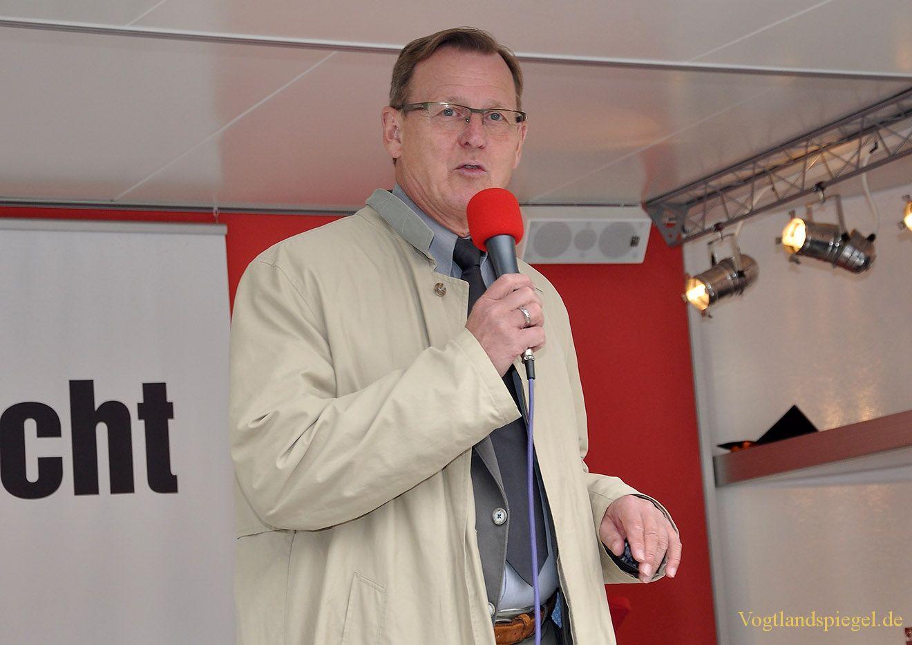 Bodo Ramelow auf Wahlkampftour in Greiz