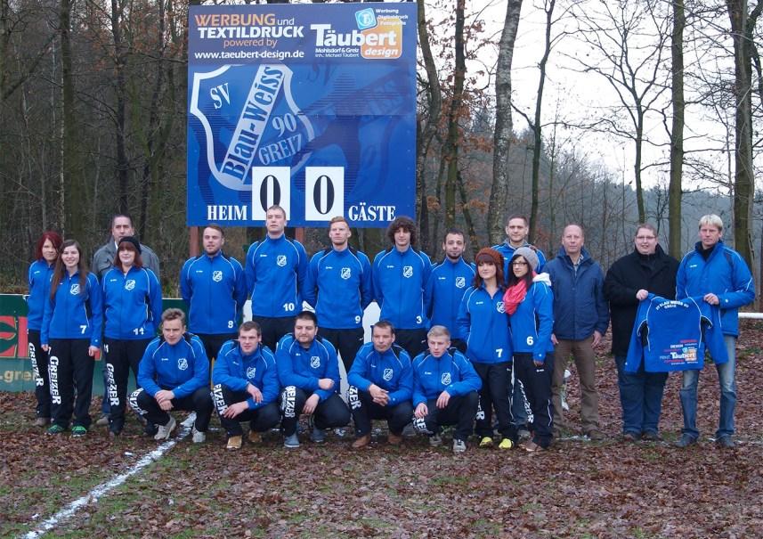 Neue Trainingsanzüge für SV Blau-Weiß 90 Greiz e.V.